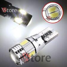 2 LED T10 HID 6SMD Canbus 5630 BIANCO Lampade No Errore Xenon Luci Posizione 5W