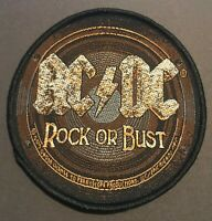 AC/DC Rock or Bust Woven Sew On Patch Official Licensed Band Merch