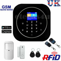 HOUSE INTRUDER LCD HOME SMS SECURITY OFFICE GSM AUTODIAL WIRELESS ALARM BURGLAR