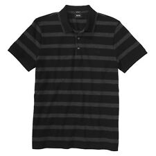 Hugo Boss - Firenze Black/Grey Striped Polo Regular Fit Large NEW  RRP£85