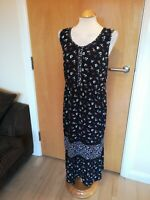 Ladies M&S Dress Size 18 Black Blue Tunic Smart Casual Day Party