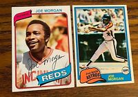 Joe Morgan Topps 1980 #650 and 1981 #560 - Reds - Astros-  HOF
