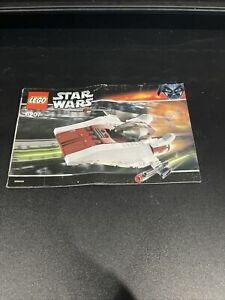 LEGO Star Wars A-Wing Fighter 6207 Instruction Book Booklet Manual Used