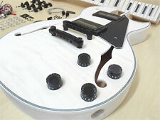 Semi-Hollow Body Electric Guitar DIY,No-Soldering,Set Neck,BK Hardwar 239DIY SMB