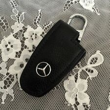 GQ Leather Car Remote Key Bags Case Holder Cover For  Mercedes-Benz car black