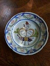 Antique Faience Patriotic French Revolution Historic Plate 1797  9.5""