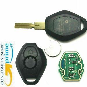 🇮🇹Chiave Guscio per BMW Telecomando completa elettronica CHIP 3 TASTI + LOGO