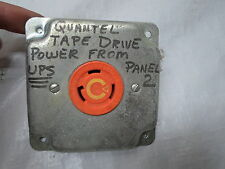 Used: Hubbell 30A 125V Receptacle Orange