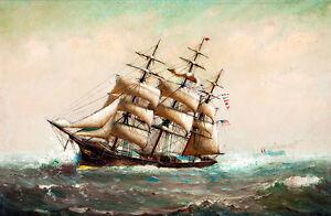 American Ship by Marshall Johnson Jr A2+ High Quality Art Print