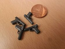 Playmobil Spare Parts - Four Toy Hand Guns- Police Officer / Thief Figures New