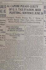 Al Capone Pleads Guilty in Tax Evasion Case June 16 1931 Gangster Convicted B21