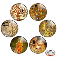 "Gustav Klimt Painting 1.25"" Pinback Button BADGE SET Novelty Pins Mini Gifts"