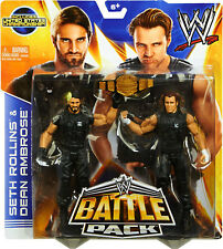 WWE SETH ROLLINS AND DEAN AMBROSE FIGURES BATTLE PACK 26 US BELT SHIELD