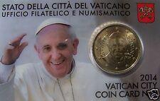 manueduc  Vaticano 2014  BLISTER OFICIAL 50  Céntimos FRANCISCO I  NUEVOS