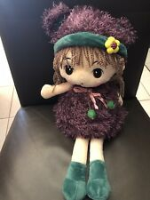 47cm Rag Doll With Hat / Soft Plush Doll Purple Every girl would love one