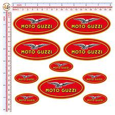 Adesivi moto guzzi sticker casco auto helmet tuning print pvc 10 pz.