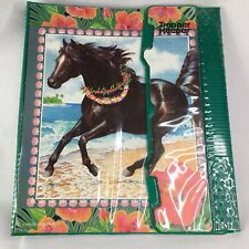 Vintage Trapper Keeper Horse Black Beauty Beach Scene