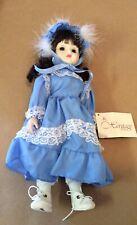 Heritage Dolls Blue Dress Porcelain Wind Up Musical Vintage Collectible