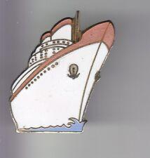 RARE PINS PIN'S .. BATEAU NAVIRE BOAT SHIP PAQUEBOT CROISIERE OR BLANC & ROSE~DE