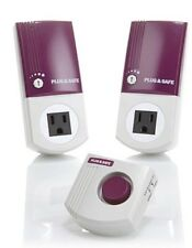 Plug & Safe PS8 Home Motion Sensor 2-pack w 1 - RX6 Siren - Purple - NEW - Alarm