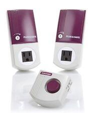 Plug & Safe PS8 Home Motion Sensor 2-pack w 1 - RX6 Siren - Purple - NEW - Alarm