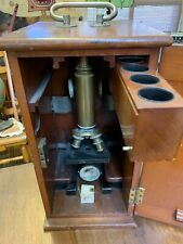 Spencer Lens Co.Antique Microscope # 8204 W/ Mahogany Box