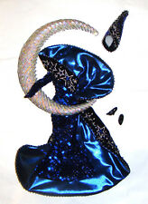 Barbie Fashion Shimmering Midnight Blue Gown For Barbie Dolls hf00