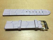 New - Purple Leather Strap 20 mm - Correa Piel Lila 20 mm - Nueva