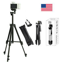 Universal Camera Tripod Stand Holder Mount for iPhone Samsung Cell Phone w/ Bag