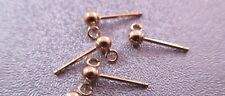 14K Gold Filled Ball Earring Post w/ Ring 3mm 4pcs
