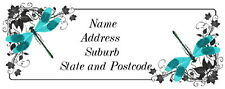 30 Personalised Quality Plus Adhesive Address Labels -  Dragonfly Corners