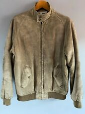 L.L. Bean Grey Suede Leather Vintage Jacket with Zip Fastening - 42 / L (Large)