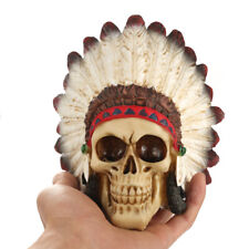 Indian Style Resin Skull Statue Figurine Human Skeleton Head Home Bar Party Deco