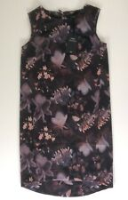 Womens Next Tailoring Black, Brown, Floral Shift Dress, Work, Size 8, Bnwt