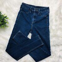 & Denim H&M Women Med Wash High Waist Skinny Ankle Denim Jeans Size 25