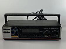 Vintage Emerson Rk5000 Under Cabinet Mount Am/Fm Clock Radio w/Timed Ac Outlet