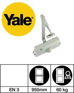 Yale 3000 Series Fixed Power Size 3 Door Closer with Standard Arm Silver