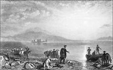 ÉCOSSE (SCOTLAND) - CHÂTEAU de LOCH-LEVEN - Gravure du 19e siècle