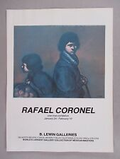 Rafael Coronel Art Gallery Exhibit PRINT AD - 1979