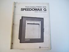 Leeds & Northrup 179006 Speedmax G Model S 60,000 Series Parts Catalog