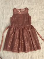JUSTICE GIRLS New HOLIDAY TULLE SEQUIN DRESS SIZE 8