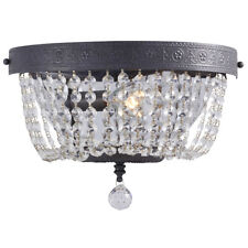 Breely 1-Light Crytal Glass Bead Shade Pocket Wall Sconce Antique Pewter Finish