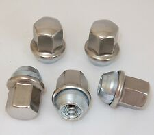 5 New Dodge Ram Factory OEM Polished Stainless 14x1.5 Lug Nuts 2012-17 Free Ship