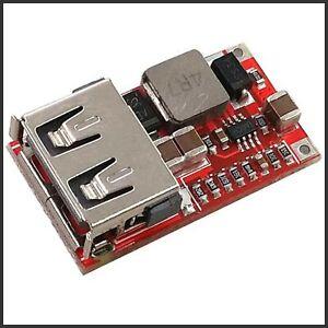 USB Step Down DC-DC Spannungswandler 6-24V zu 5V 3A Arduino Spannungsregler
