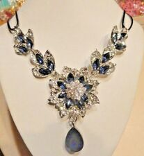 """Betsey Johnson Fashion Jewelry Women's CRYSTAL FLOWER 18"""" NECKLACE Christmas"""