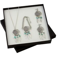NEW Buffalo Nickel Dreamcatcher Coin Necklace, Bracelet, arrings Boxed Gift Set