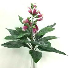 "Fox Glove Spray Stem~Pink, White, Green~22""T~Silk/Artificial"