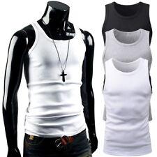 ►4-12 Set Unterhemd Herren TankTop Schwarz Weiß Feinripp Muskelshirt Achselshirt