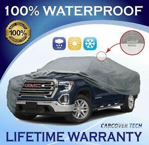 100% Weatherproof Full Pickup Truck Cover For GMC Sierra [ 2000 - 2021 ]