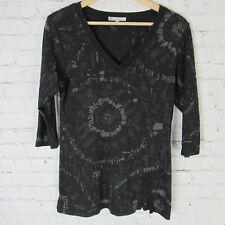 Tilley Endurables Top Womens Medium Black V Neck Shirt
